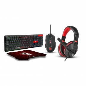 combo gamer starter 4 em 1 headset mouse teclado mouse pad cgst41 elg 1