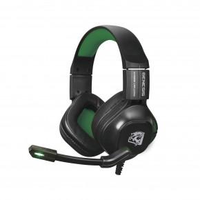 headset gamer genesis com microfone preto e verde hgge elg 1