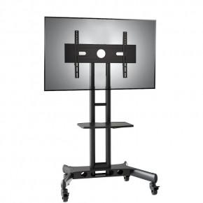 pedestal para tv de 32 a 75 suporte videoconferencia com rodizios cts55 nb 1